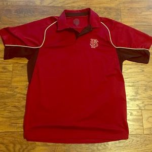 Shirts - Red/Black FSU Florida State Seminoles Polo Shirt